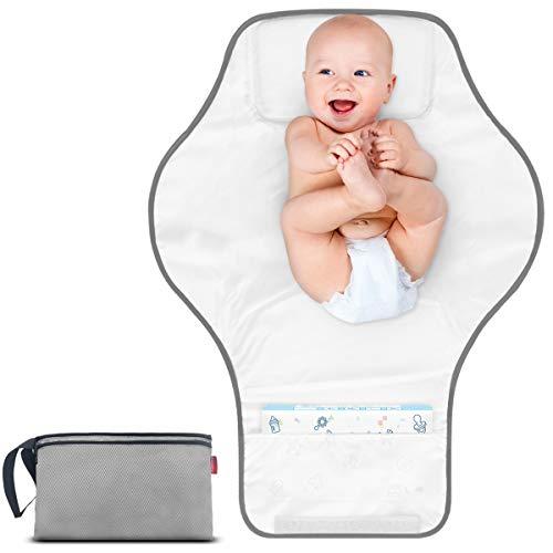 MORROLS Tragbare Wickelunterlage für Unterwegs, Waschbare Wickelunterlage für Babys und Kleinkinder Inkontinenzauflage Atmungsaktiv Komfortable,fürs Kleinkind Jungen Mädchen.