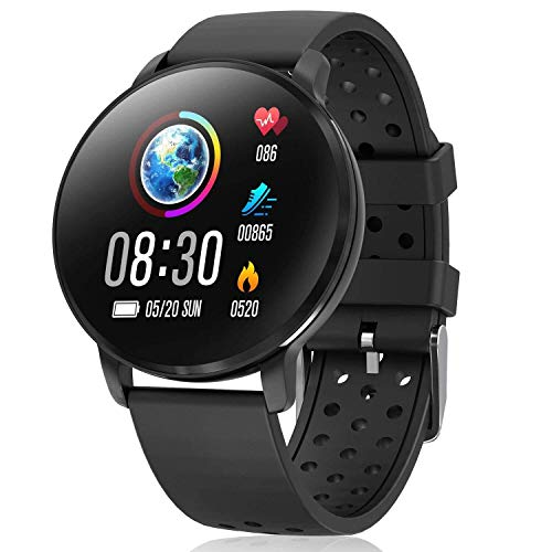 CatShin Smartwatch,Fitness Armband Uhr Herren Damen mit Blutdruckmessung CS06 Fitness Tracker Uhr Schrittzähler IP67 Wasserdicht Bluetooth Multifunktions Sportuhr für kompatibel mit iOS/Android