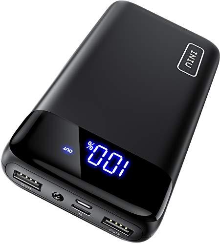 INIU Powerbank, 18W PD3.0 QC4.0 Schnelles Aufladen 20000mAh LED Display Externer Akku, USB C Power bank Kompatibel mit iPhone 12 11 Pro X 8 Plus Samsung S20 Huawei P20 Xiaomi Oppo iPad Tablet und mehr