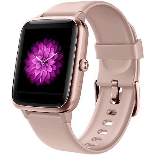 GRDE Smartwatch Damen Smartwatch Bluetooth 1.3 Zoll Voll Touchscreen Fitness Armband Sportuhr 5ATM Wasserdicht Fitness Tracker mit Pulsuhr Schrittzähler Musiksteuerung Stoppuhr Anruf SNS Smart Watch