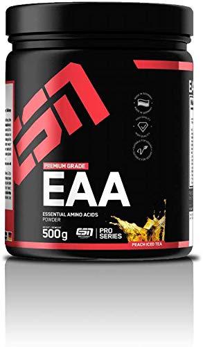 ESN EAA Pulver – 500g – Peach Ice Tea – Enthält alle 8 essentiellen Aminosäuren (EAAs – essential amino acids) – vegan – instant – 10.000 mg EAAs pro Shake – 35 Portionen