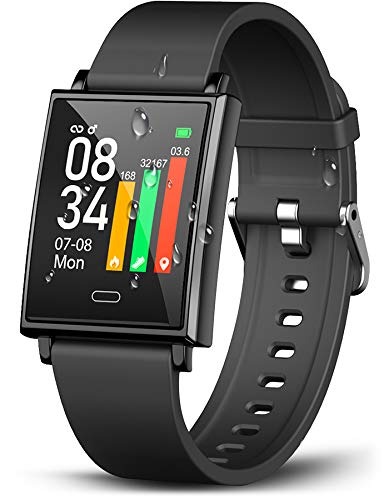 Winisok Smartwatch Fitness Armband, Fitness Uhr mit Blutdruckmessung Pulsmesser IP68 Wasserdicht Fitness Tracker Sportuhr mit Schrittzähler Pulsuhren Stoppuhr für Damen Herren für iOS Android Handy