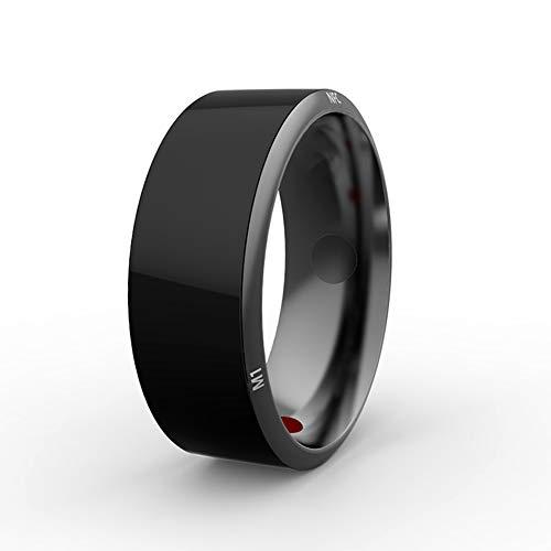 LLCX Smart Ring Kristall Armband Handy-Zubehör NFC Türschloss Ring Schwarz Titan wasserdichte App ermöglicht Smart Ring Home Ring,8th