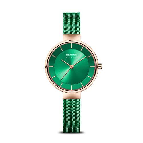 BERING Damen Analog Solar Uhr mit Edelstahl Armband 14631-Charity