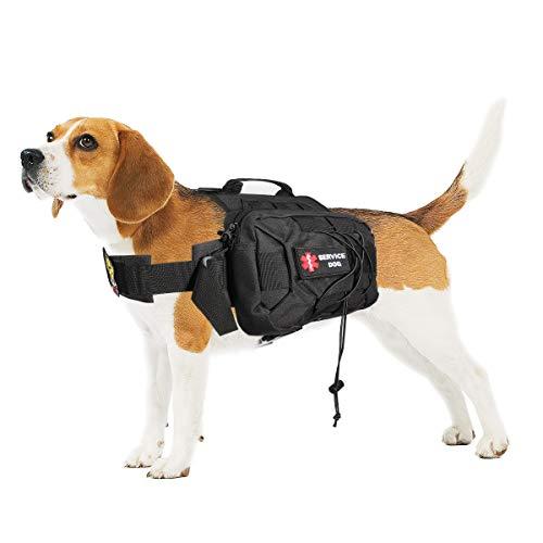Magibag Verbesserter taktischer Rucksack für Hunde mit verstellbarem Gewicht; für mittelgroße und große Hunde, Reisen, Camping, Wandern, Abenteuer