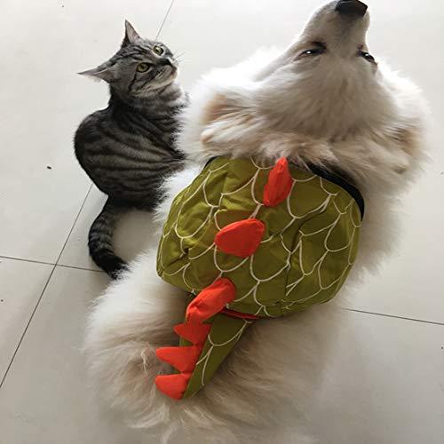 VICTORIE Kleine Mittlere Hund Geschirr Tasche Satteltasche Rucksack Carrier Haustiere für Außen Reise Training Camping Spaziergang Dinosaurier