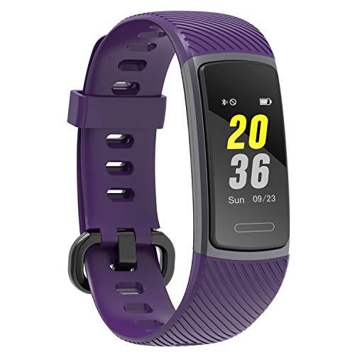 LETSCOM Fitness Tracker mit IP68 Wasserdicht Pulsmesser, Fitness Armband Kalorienzähler Schrittzähler Aktivitätstracker Schlafmonitor, Farbbildschirm Fitnessuhr für Kinder Frauen Männer