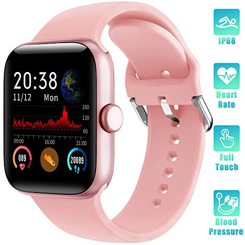 LIFEBEE Smartwatch, Fitness Armband Touchscreen IP68 Wasserdicht Fitness Tracker Smart Watch Fitness Uhr Sportuhr Blutdruckmessung Schrittzähler Schlafmonitor Damen Herren Pulsuhren für Android iOS