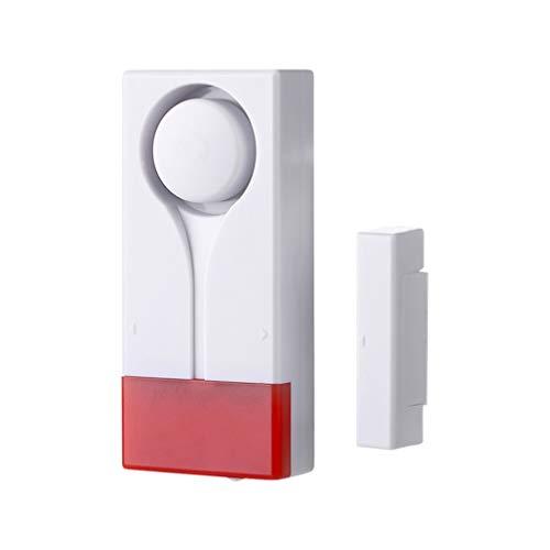 Garneck Tür Fenster Alarm Diebstahlschutz Alarm Sicherheitsgeräusche Funkfernbedienung Blitzlicht Sensor Alarm Außenschutzsensor für Die Sicherheit zu Hause Kindersicherheit (Weiß)