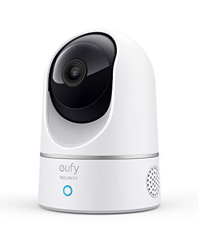 eufy Überwachungskamera, IP Kamera, Security Indoor Cam 2K für Innenbereiche, Plug-In Schwenk-Neige-Sicherheitskamera mit Sprachassistent, Personenerkennung, Bewegungssensor, HomeBase Nicht notwendig