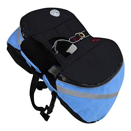 POPETPOP- Haustier Hund Satteltasche Outdoor Rucksack Tragbare Atmungsaktive Hound Pack für Reisen Camping Wandern Wandern
