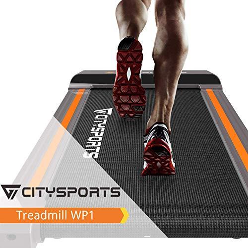 CITYSPORTS Klappbar Laufband, 1-6 km/h elektrisches Laufband, leicht zu bewegen und zu lagern,Büro- / Heimfitness