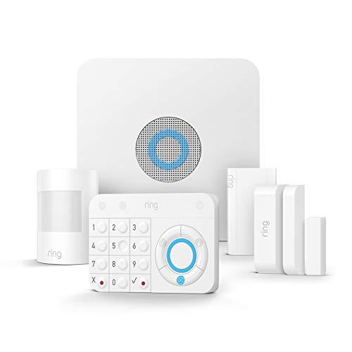 Ring Alarm 5-teiliges Set von Amazon – Alarmanlage mit optionaler unterstützter Überwachung – ohne langfristige Verpflichtungen – funktioniert mit Alexa