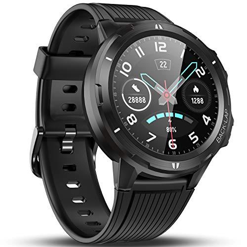 Vigorun Smartwatch Damen Herren, 1.3 'Voller Touchscreen Fitness Tracker Fitnessuhr Armbanduhr, Pulsmesser, Schlafmonitor, Schrittzähler, 14 Tage Akkulaufzeit, Wasserdicht Sportuhr für Android Schwarz