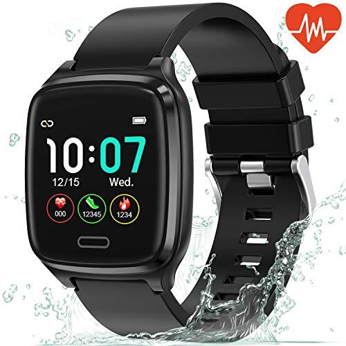 L8star Smartwatch, Fitness Tracker Uhr Touch Screen Fitness Armband Pulsuhr IP67 Wasserdicht Smartwatch Sportuhr mit Schrittzähler Pulsuhren Stoppuhr für Damen Herren Smart Watch für iOS Android