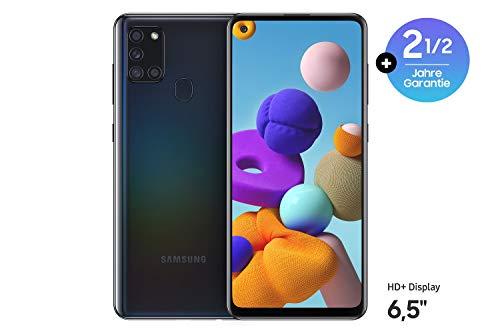 Samsung Galaxy A21s Android Smartphone ohne Vertrag, 4 Kameras, 5.000 mAh Akku, 6,5 Zoll HD+ Display, 32 GB/3 GB RAM, Dual SIM, Handy in schwarz, deutsche Version