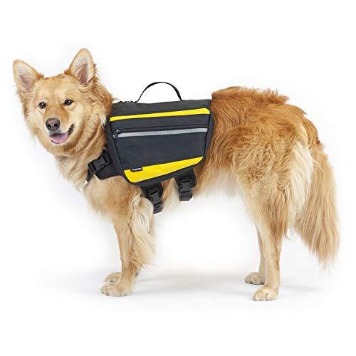 DoggyDobby Hund Sattel Taschen, langlebige große Reise Camping Wanderrucksack Rucksack für mittlere & große Hund, kein Reißen