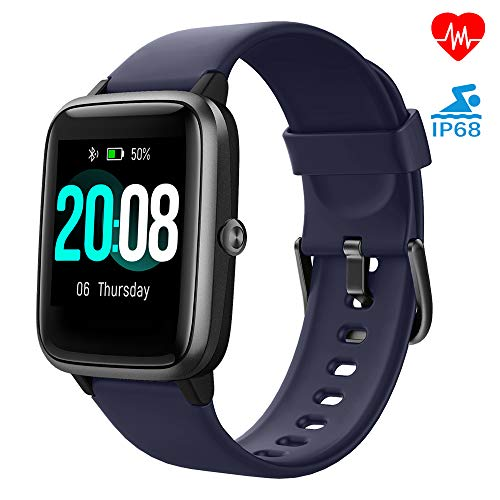 LIFEBEE Smartwatch, Fitness Armband Fitness Tracker Voller Touch Screen Smart Watch IP68 Wasserdicht Fitness Uhr mit Pulsuhren Schrittzähler Damen Herren Armbanduhr Sportuhr für iOS Android (Lila)