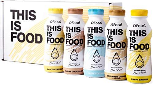 YFood Probierpaket | Laktose- und glutenfreier Nahrungsersatz | 34g Protein, 26 Vitamine und Mineralstoffe | Leckere Astronautennahrung – 5 Sorten Tasterpack | Trinkmahlzeit, 5 x 500ml (1 kcal/ml)