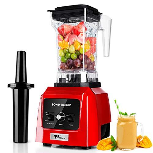 amzdeal Standmixer 2600W- Blender mit 14 stufenlosem Tempos, Impuls-/Ice-Crush Funktion, 316 Edelstahlschüssel, 1,6 L Tritan-Kunststoff Behälter, Smoothie Maker für Eisgetränk & heiße Suppe