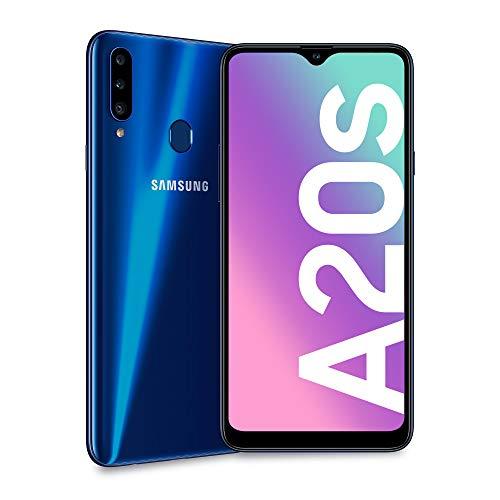 Samsung Smartphone Galaxy A20S, Blau, 16,51 cm (6.5 Zoll), CAM (13 + 8 + 5) / 8 MP, OC 1,8 GHz, 32 GB, 3 GB RAM, Android, 4G, Dual SI