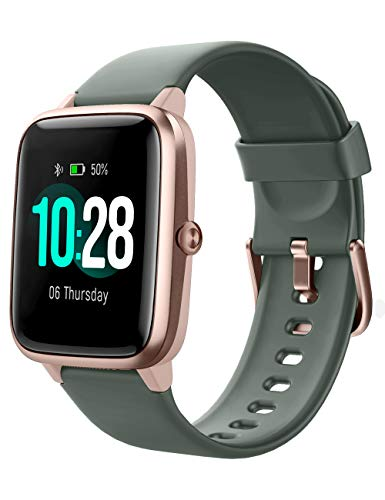 YAMAY Smartwatch,Fitness Armband mit Pulsuhren Fitness Tracker Wasserdicht IP68 Fitnessuhr Sportuhr Schrittzähler für Android iOS Handy Smart Watch mit Unterschiedliche Zifferblätter für Herren