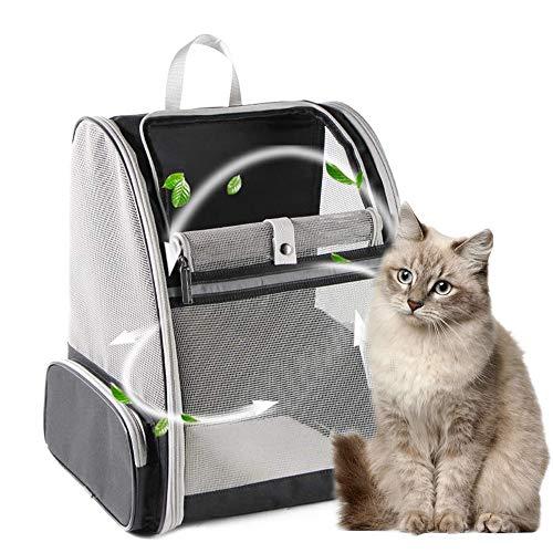 Hunde Rucksäcke, Haustier Rucksäcke mit Mesh für kleine Hunde Katzen Welpen, Comfort Katzen Rucksäcke Tasche Airline genehmigt für Wandern Reisen Camping im Freien