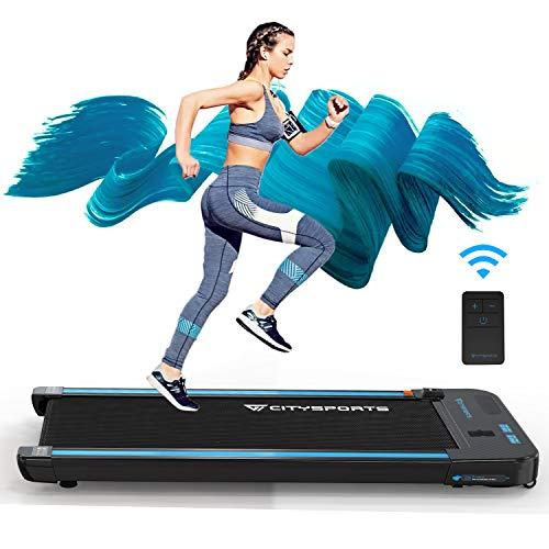 CITYSPORTS Laufband mit 440 W Elektromotor integrierte Bluetooth-Lautsprecher Einstellbares Tempo LCD-Display für zuhause und Büro… (ROT)