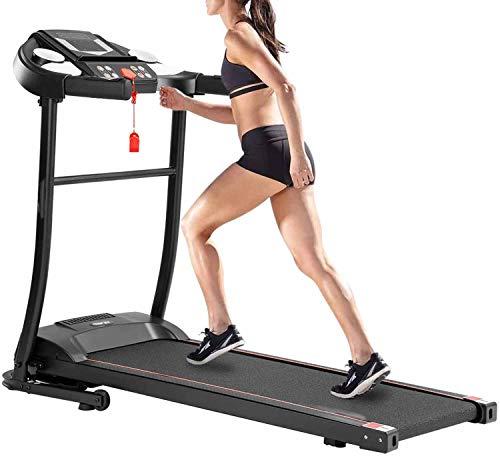 AiWoo Laufband für Zuhause, 150 kg, elektrisch, zusammenklappbar, motorisiert, mit 12 Programmen, LED-Display, Fitnessgerät
