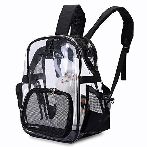 QFL Pet Träger Rucksack, Camping Haustier Wanderrucksack, Reise Blase Rucksack-Fördermaschine for Katze Rucksack Hunderucksack tragbar (Color : Black33x23x39CM)
