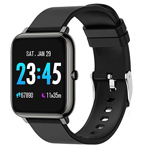 Smartwatch, Fitnessuhr mit Blutdruckmessgerät, Schrittzähler, Blutsauerstoff- und Herzfrequenzmesser, Schlafüberwachung, 1,3-Zoll-Touchscreen, wasserdichte Schutzart IP67, geeignet für iOS Android