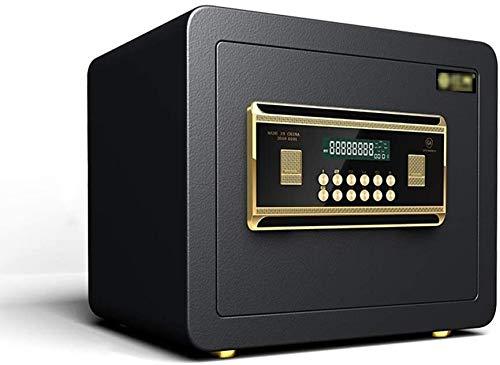 ZHLFDC Safe Box Safes, die Schwarz-großer Kapazitäts-Schmuck Safe Büro wichtigen Dokument Storage Box All Steel Passwort Wand-Tresor
