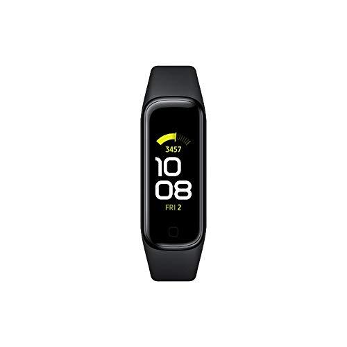 Samsung Galaxy Fit2 Fitness-Tracker, 1,1 Zoll AMOLED Farbdisplay, Fitnessarmband mit hohem Tragekomfort, wasserdichte Fitnessuhr, bis zu 21 Tage Akkulaufzeit, Schlafanalyse, schwarz