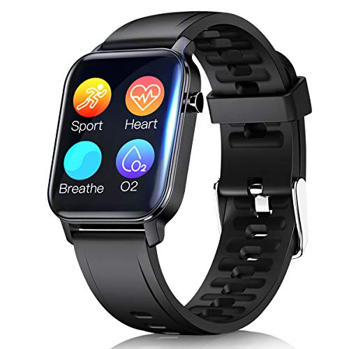 Smartwatch, Fitnessuhr 1.3 Zoll Touch Screen Fitness Tracker mit Pulsuhr, Smart Watch IP68 Wasserdicht Smartwatches mit Schrittzähler Pulsmesser Sportuhr für Damen Herren Sportuhren für iOS Android