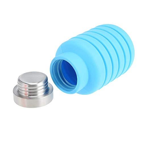 AJH 500ML tragbare Silikonwasserflasche versenkbare klappbare Kaffeetasse Outdoor-Reise Trinken Faltbare Sportgetränk Wasserkocher Wasserflasche