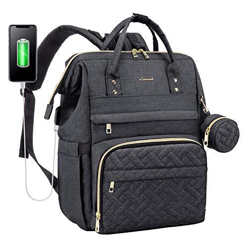 Wickelrucksack Baby Wickeltasche Rucksack Groß, Windeltasche Babytasche Für Unterwegs Mit 15,6 Zoll Laptopfach, USB-Ladeanschluss, Schnullerhalter Und Kinderwagengurte, Dunkelgrau