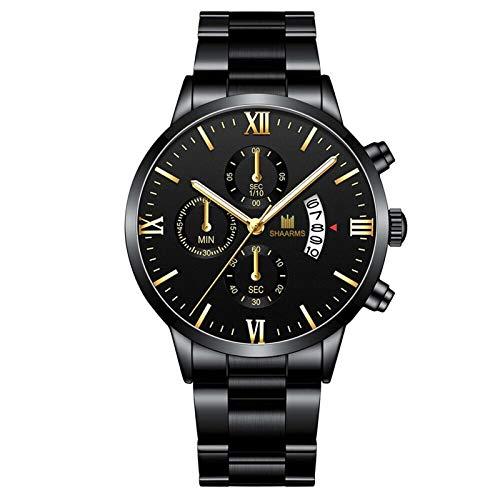 SOMESUN Herren Uhren Sport Wasserdicht Edelstahl Analoger Quarz Uhr Armbanduhr Männer Blau Herrenuhr Markenuhren Analog Quarzuhr