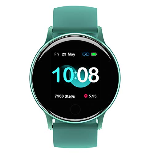Smartwatch, UMIDIGI Uwatch 2S wasserdichte Fitnessuhr mit individualisierbaren Zifferblätter, Fitness Tracker Smart Watch mit Pulsuhr, Stoppuhr, Schrittzähler für Damen und Herren, Ozeangrün
