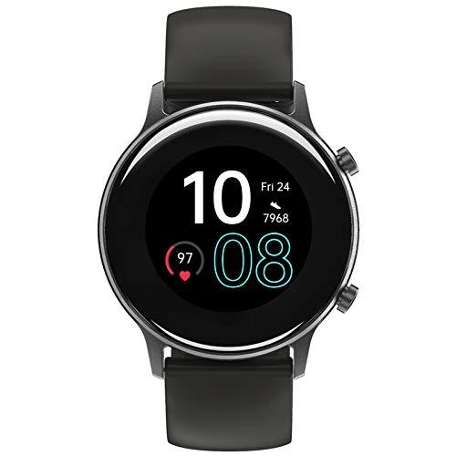 Smartwatch, UMIDIGI Urun GPS Smart Watch Fitness Tracker mit Pace, wasserdichte Fitnessuhr mit Blutsauerstoff-Monitor, Pulsuhr, Schlafmonitor, Schrittzähler, Stoppuhr für Damen und Herren, Space Grau