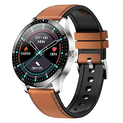 1,28 Zoll Touch Smart Watch Herzfrequenzüberwachung Sportuhren Blutdruckerkennung Multi-Sport-Modus Wissenschaftlicher Schlaf Bewegungsmangel IP68 Wasserdichter Fitness- Smartwatches