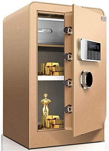 LHSUNTA Digitaler Safe, Sicherheitsboxen, Safes und Schließfächer für Home Office Hotelschmuck Geldschrank Wandtresore (Farbe: Schwarz, Größe: 38x36x60cm)